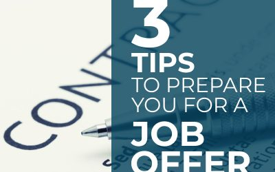 Preparing For a Job Offer