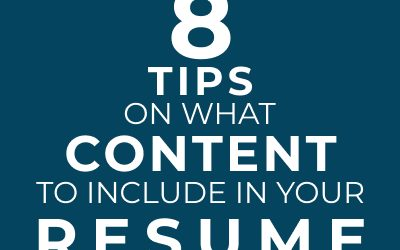 Content You Should Include For a Perfect Resume