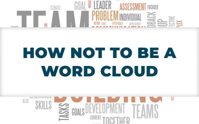 How NOT to be a Word Cloud – #JobSearchStrategies